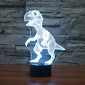 Dinosaur 3D LED illusion Night Light 7 Change Color Touch Switch Table Desk Lamp USB Lampara