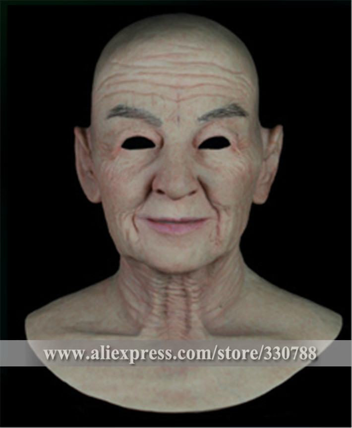 [SF-N9] Top quality realistic silicone masks, old man mask, mens masquerade masks christmas, full head halloween mask