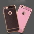 Phone Case For iPhone 7 7 Plus 6 6s Plus Soft TPU Luxury Imitation Leather Design