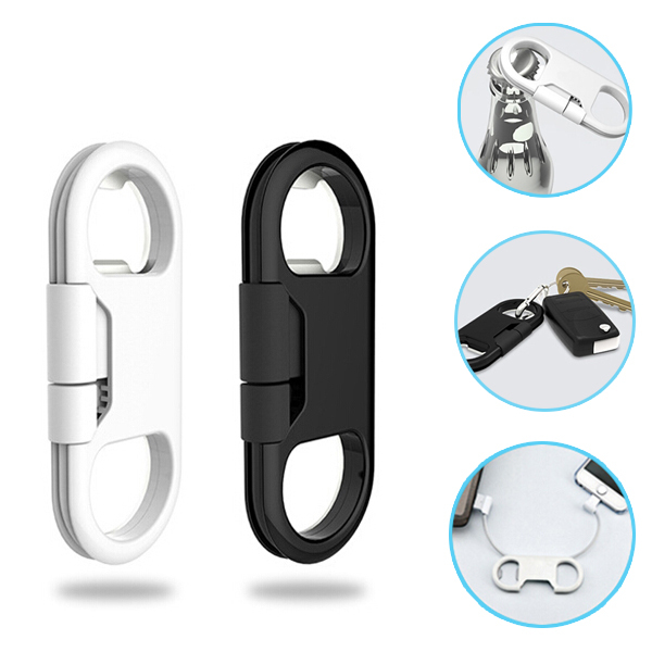 Android Type Portable Metal Keychain USB Data Charge Sync Cable Support Bottle Opener For Samsung S6 Edge For LG G3 G4(China (Mainland))