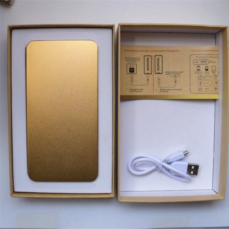 Золотые блоки батарей 20000mah портативный банк силы внешнего аварийного резервного копирования зарядное устройство для iPhone телефонов Samsung