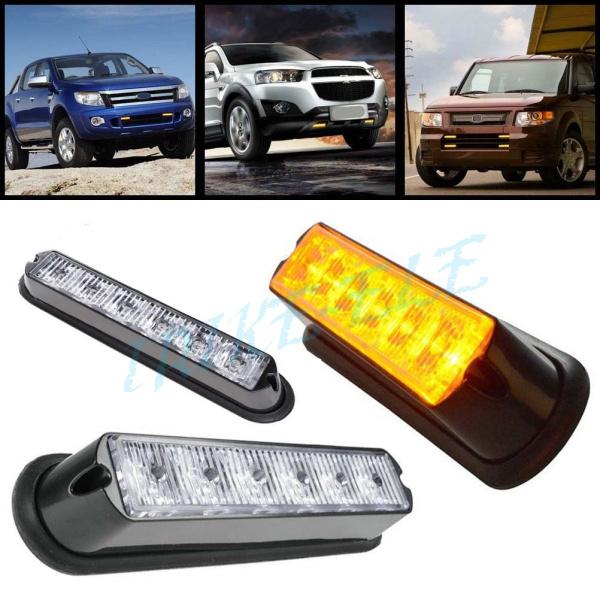 6 led work light bar beacon vehicle grill strobe lights. Black Bedroom Furniture Sets. Home Design Ideas