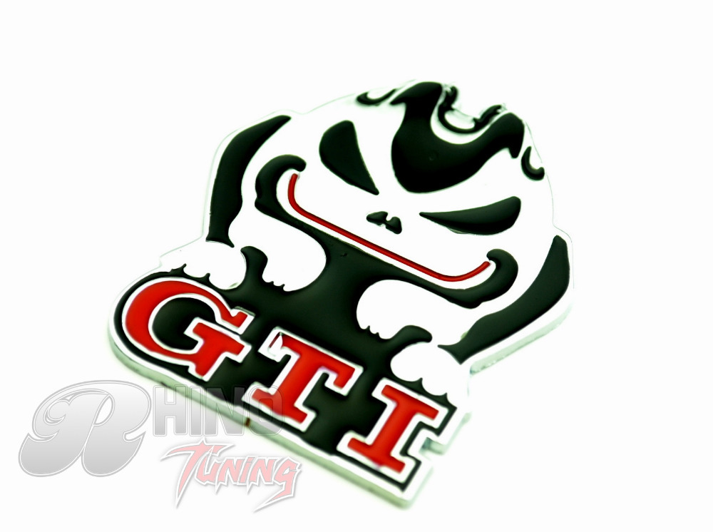 VW Rabbit GTI Trunk Rear Car Emblem Sticker for VW POLO Golf GTI Auto Car BADGE 479(China (Mainland))