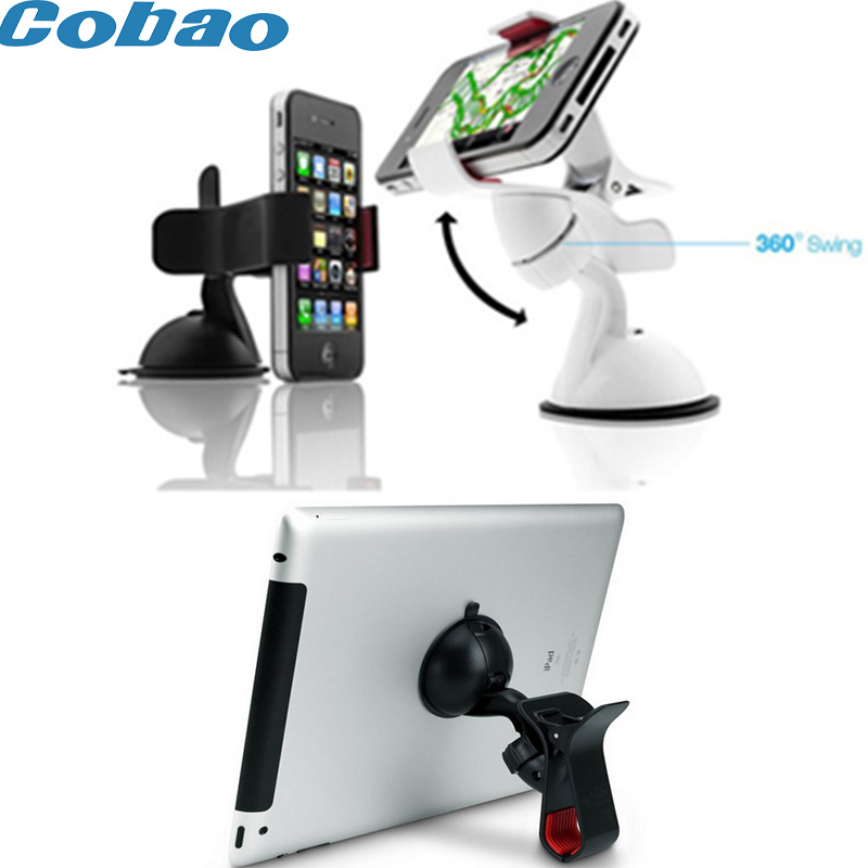 Cobao Universal Car Windshield Mount Desk Bed Mobile Cell Phone GPS Tablet Holder For Apple Iphone Phone Ipad Tablet Pad Stand(China (Mainland))