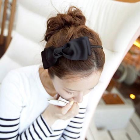 Korean headdress handmade custom bow hair accessories hairpin head hoop hoop lovely South Korea imported jewelry(China (Mainland))
