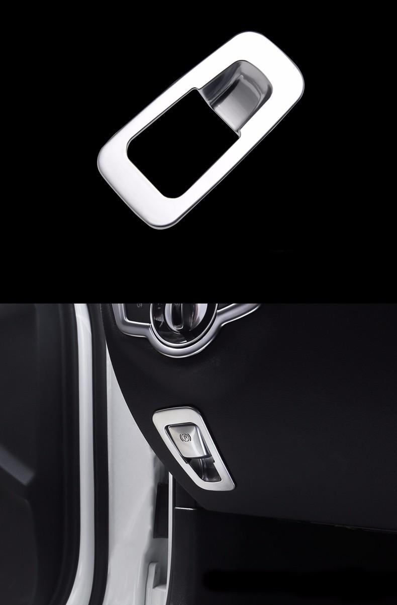 ถูก ไฟแช็กแผงปกตัดอิเล็กทรอนิกส์เบรกมือตกแต่งกรอบเลื่อม3Dสติกเกอร์สำหรับMercedes Benz GLC Cชั้น