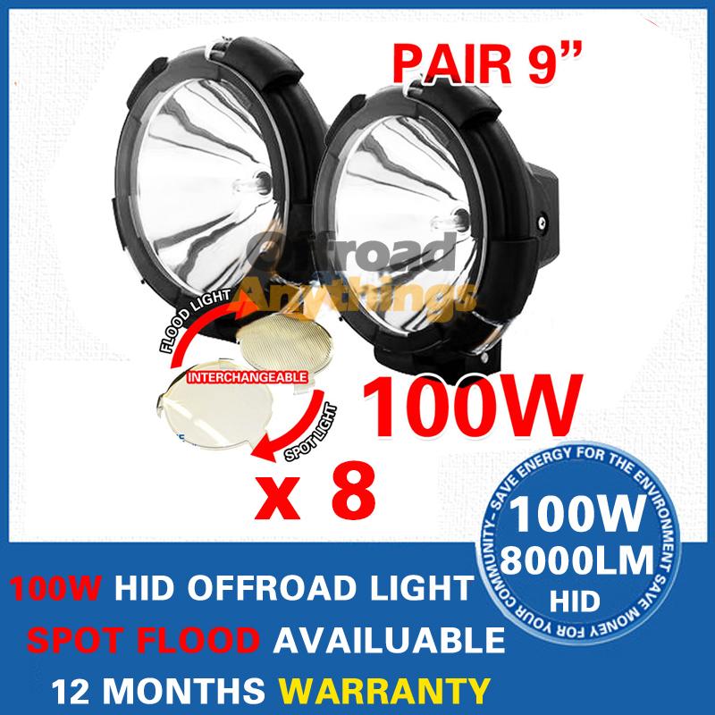 "8X 9"" 35w/55W/75w/100W hid driving lights HID off road light xenon work lighting Spot/Flood Beam car truck/Boat fog lamp(China (Mainland))"