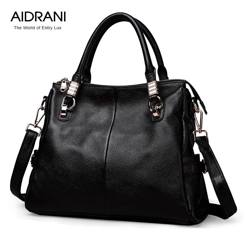 2016 High Quality Genuine Leather Women Bag Aidrani Brand Fashion Popular Shoulder Women Bag Cowhide Totes Women Messenger Bags<br><br>Aliexpress