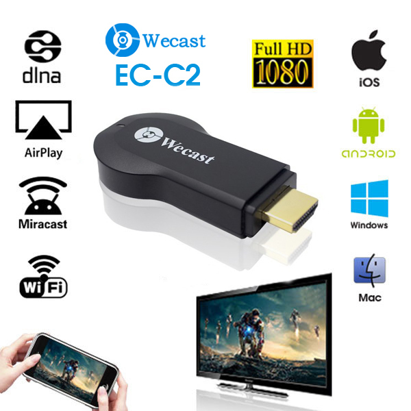 Newest Miracast Dongle better than Ezcast Chromecast Android Mini PC Support Samsung IPhone Win8.1 DLNA Airplay wireless hdmi(China (Mainland))