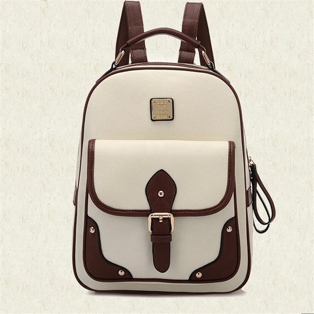 Самая низкая цена! Высокое качество школьные рюкзаки для девочек-подростков кожа ...