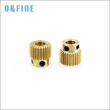 2PCS 3D Printer Extrusion Wheel Special Brass Wire Feed Wheel 26 Tooth Gear for Extruder filaments