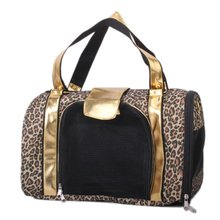 Bestselling Printing Leopard Pet Carrier Pet Bag Tote for Cat Dog(China (Mainland))