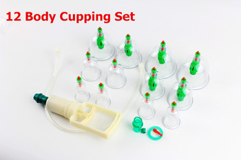 12 Body Cupping Set + 6 Magnets Point Therapy-Cupping bhm ,Hot selling!!!
