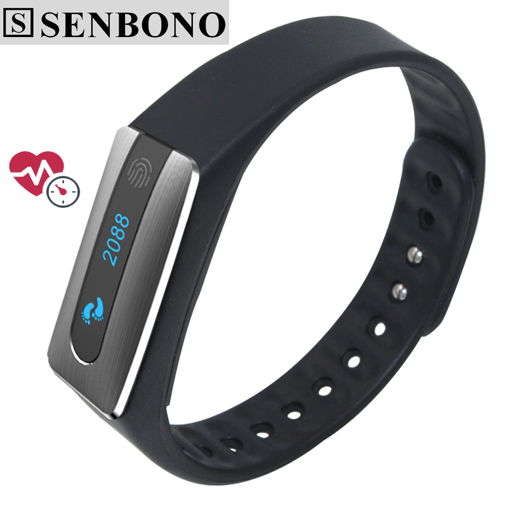 Senbono NFC Bluetooth 4.0 Smart band bracelet Heart Rate Monitor IP67 waterproof sleep tracker Wristband for IOS Android phone(China (Mainland))