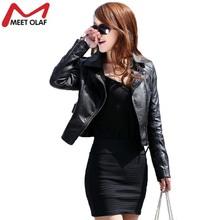 Vintage Women PU Leather Jacket Fashion Slim Thin Biker Motorcycle Soft Faux Leather Zipper Jackets Coat YL122(China (Mainland))