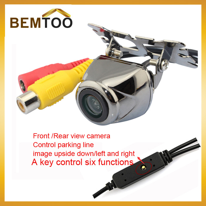 New Product Car Front/Rear View Camera Reverse Control parking line /Image upside down/left and right reversal parking Camera(China (Mainland))