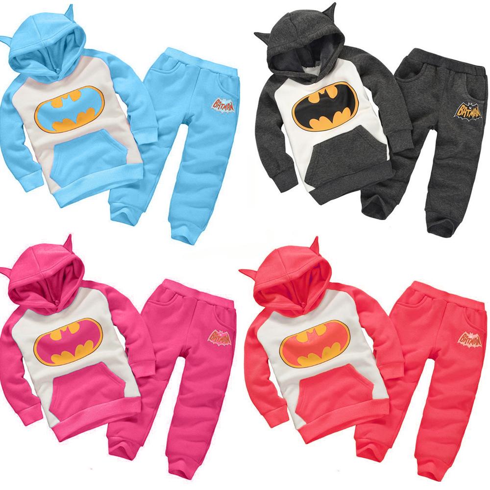 2015 Hot Winter Children's Clothing Suits Batman Kids Hoodies + Pants Children Sports Suit Boys Clothes Set Retail Enfant(China (Mainland))