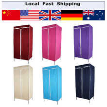 1Pcs 13mm Tubes Single Fabric Canvas Clothes Storage Organiser Wardrobe Cupboard Shelves Home Bedroom Cabinet  6 Colors(Hong Kong)