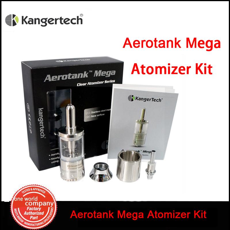 100% Kangertech Aerotank Mega Atomizer Kit 3.8ML Airflow Adjustable Aerotank Mega Dual Coil Atomizer for ego battery E-Cig (MM)