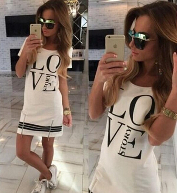 Женское платье Women summer casual dress 2015 o slim fit vestidos LYA1555
