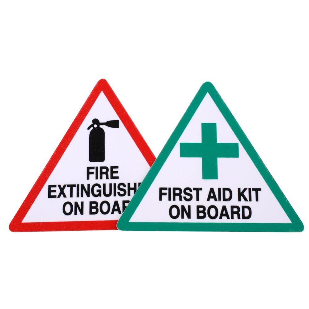 1 Pair Fire First Aid Decal Stickers Kit Cut Road Industrial Taxi Van Bus Safety(China (Mainland))