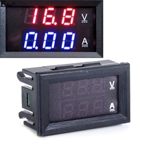 2015 New Red Blue LED DC 0-100V 10A Dual Display Voltage Meter Digital LED Voltmeter Ammeter Panel Amp Volt Gauge TK1382