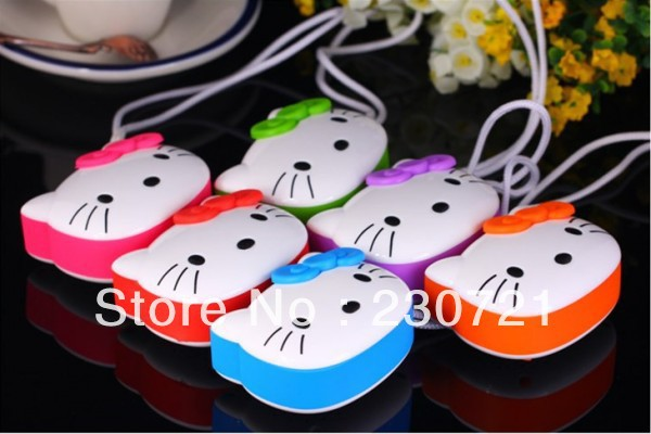 Hello Kitty mini cartoon speaker portable mp3 player FM Radio best gift for kids with retail box 20pcs DHL free shipping(China (Mainland))