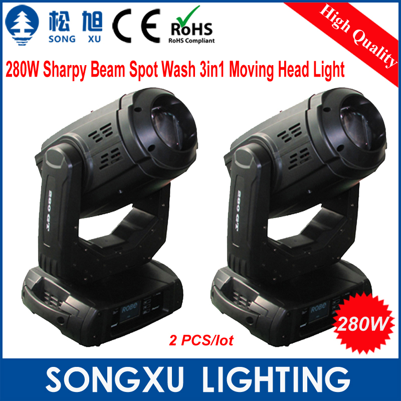 2pcs/lot Newest 280W Sharpy Beam Spot Wash 3in1 Moving Head Light Beam 280 Beam 10R DJ Disco Nightclub Stage Light/SX-MH280(China (Mainland))