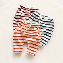 2016 new Summer Haren Pant Simple Classic Striped Pants Boys Girls Trousers Children Clothing