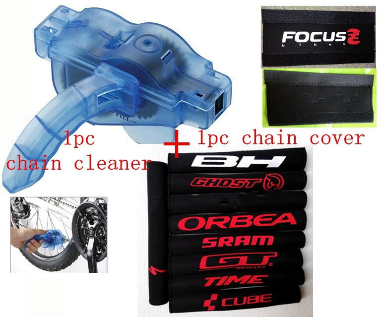 3pc/lot Drop shopping Bicycle chain cleaner+Bicycle MTB Chain Care Stay Posted Protector Guard Cover Pad Cycling chain cover pad(China (Mainland))