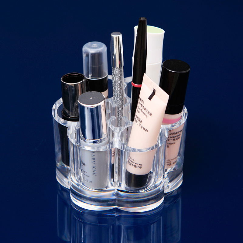 New Makeup Organizer Hot Sale Chic Cosmetic Jewelry Case Lipstick Brush Insert Holder Box VBD23 P(China (Mainland))