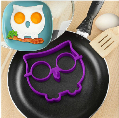 Гаджет  Silicone Mold Owl Egg Ring Breakfast Eggs Mould Cooking Tools For Gift Novelty,Free Shipping None Дом и Сад