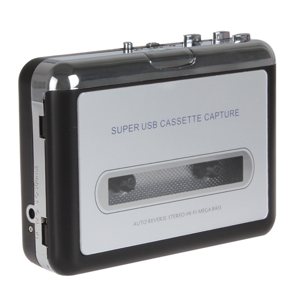 Portable USB Cassette Player Capture Cassette Recorder Converter Tape-to-MP3 Auto Reverse-Stereo-Hi-Fi-Mega Bass, Free Shipping(China (Mainland))