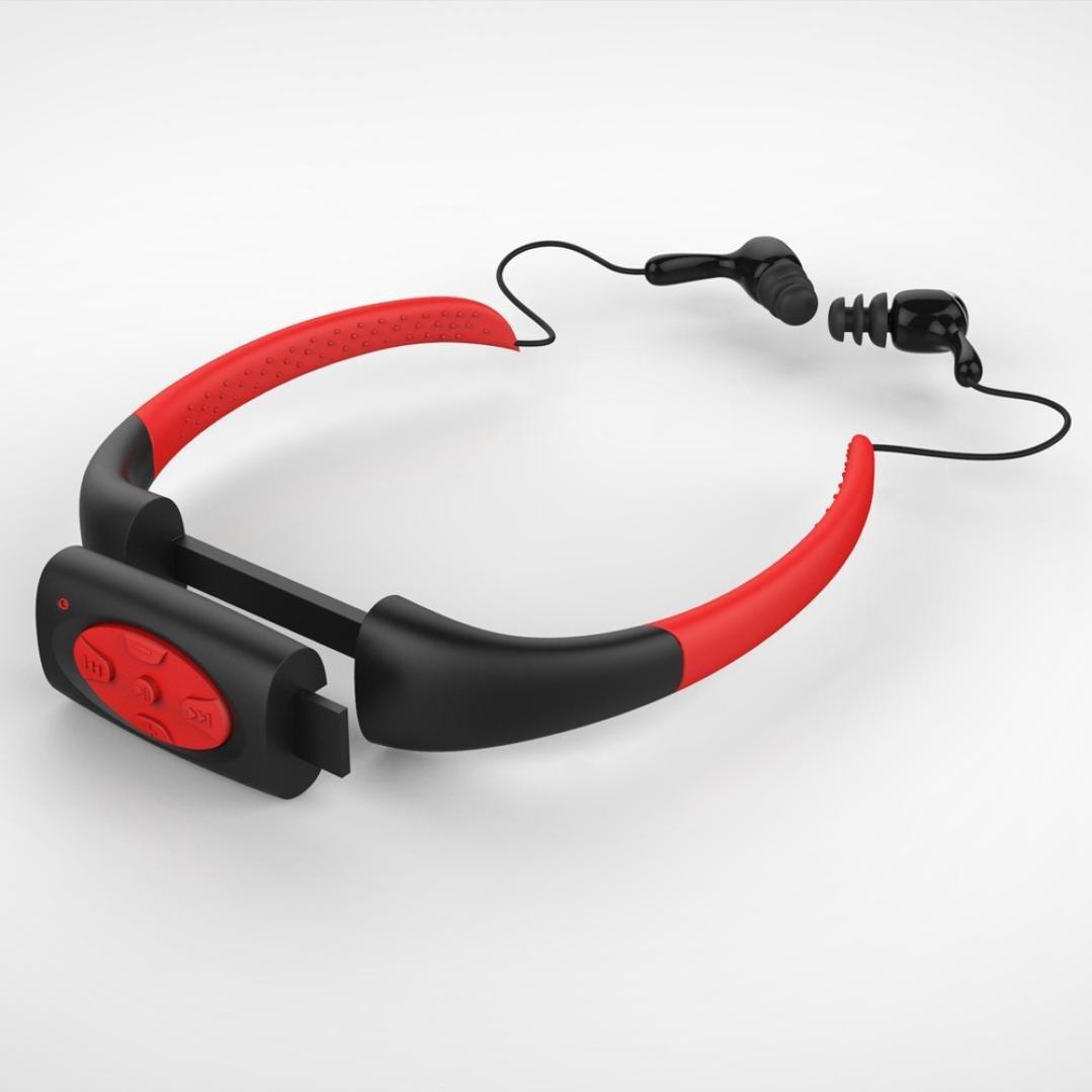 8GB IPX8 Waterproof MP3 Music Player Swimming Underwater Sports Sport Neckband Diving with FM Radio Stereo Audio Headphone(China (Mainland))