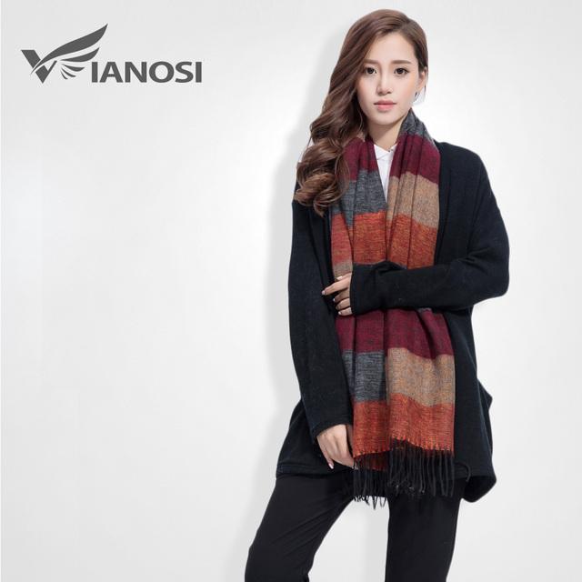 [VIANOSI] Fashion Brand Winter Scarf Women Designer Pashmina Shawls and Scarves Soft Foulard Bufandas VS063