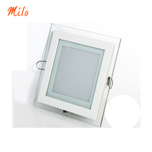 High quality Aluminum+Glass LED panel light,color changeable lamp,round and square shape,6W 12W 18W(China (Mainland))