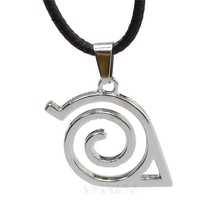 Hot Anime Naruto Leaf Village Symbol Cosplay Necklace Konohagakure Konoha Ninja Logo Cosplay