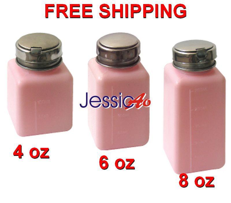 Liquid Press Pump cap plastic bottle 4oz Pink Dispenser Cleaner Bottle Alcohol/Solder Flux Bottle (10pcs/lot) Soldering(China (Mainland))