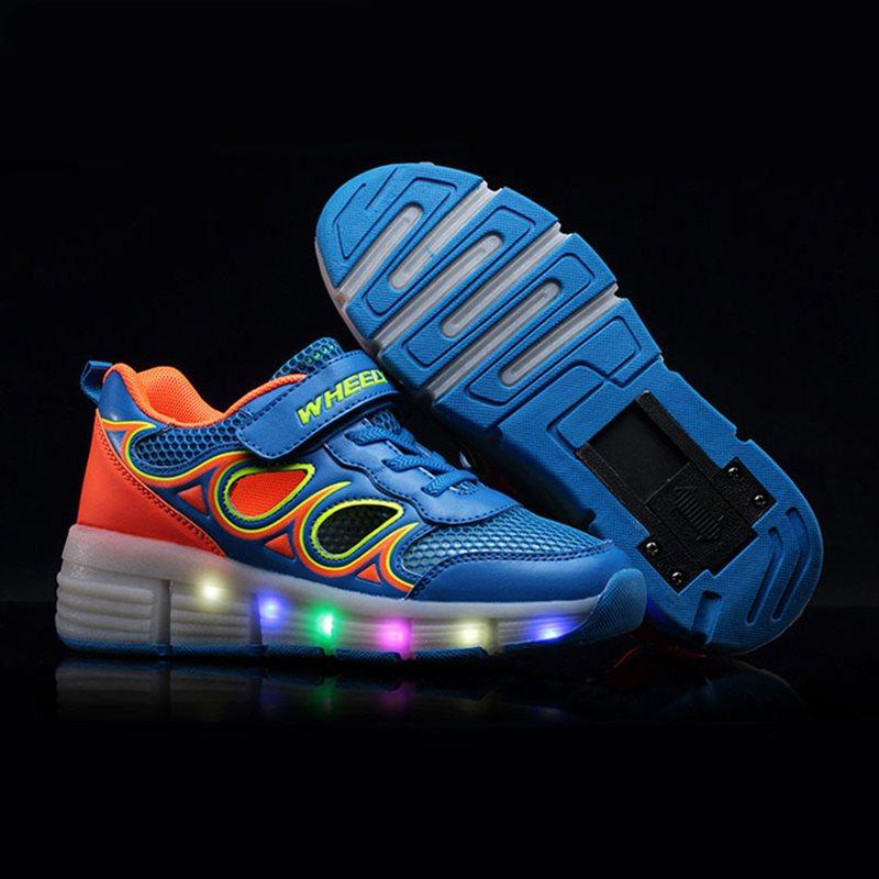 Summer Kids Shoes Lights Children Heelys Roller Wheels Boys Girls Led Light tenis masculino esportivo - DZ Dreams Store store