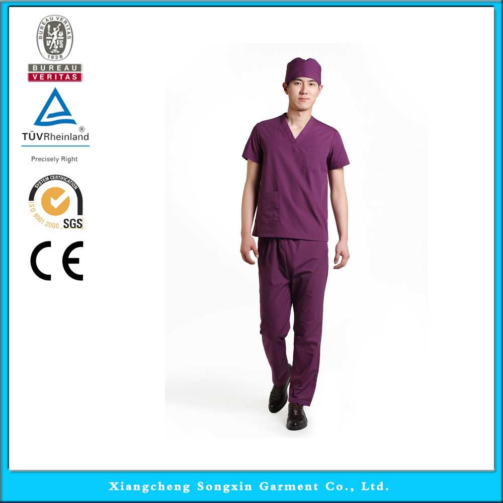 2015 OEM scrub sets mens scrub uniforms nurse scrub cotton suit designs(China (Mainland))