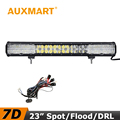 Auxmart LED Light Bar 23 inch 7D 240W CREE Chips Offroad LED Bar Cross DRL Flood