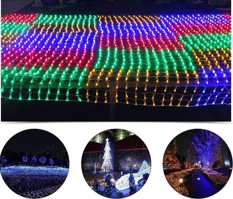 3m*2m Net Mesh Fairy String Light 200 LED Christmas Wedding Party Fairy  String Light