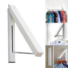 Folding Wall Hanger Retractable Indoor Waterproof Hangers Clothes Rack Towel Clothers Organizationn(China (Mainland))