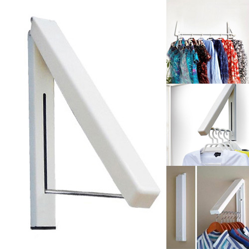 Folding Wall Hanger Retractable Indoor Waterproof Hangers Clothes Rack Towel Clothers Organizationn(China (Mainland))