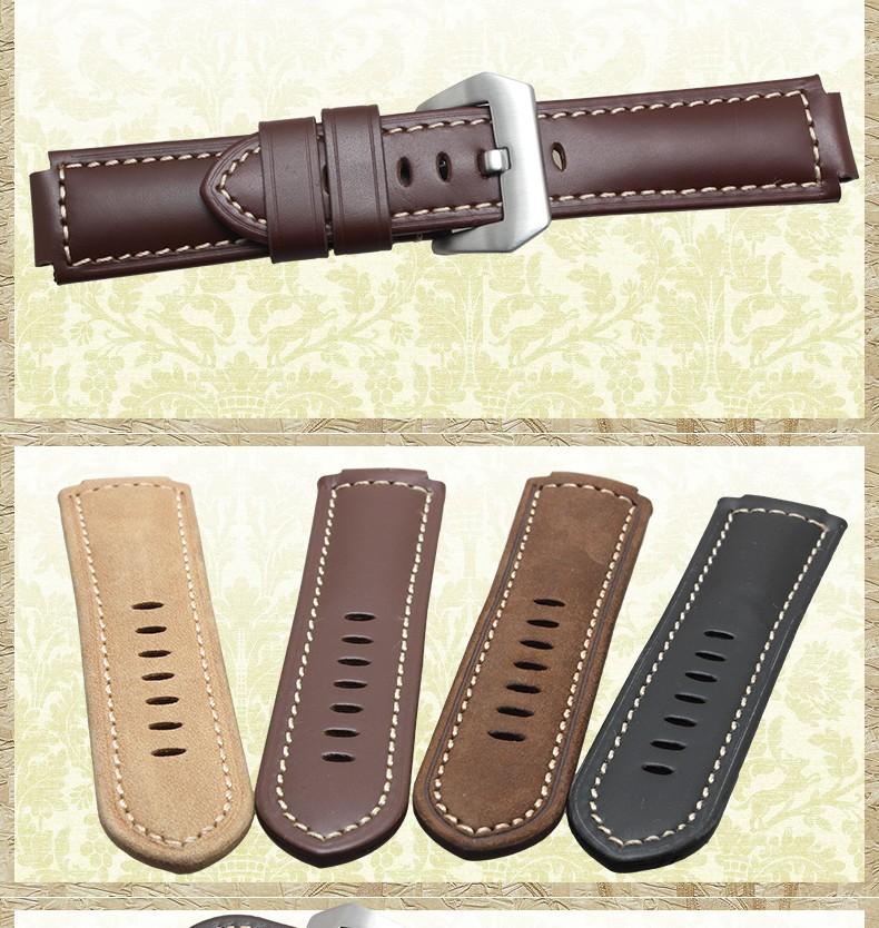 Натуральная Кожа часы браслет 24*16 мм Ремешок с Стальной Застежка ремешок для Tide