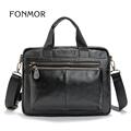 FONMOR Genuine Leather Men Totes Bag Casual Business Men s Handbags Cross body Bags Briefcase Messenger