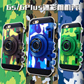 For Apple 6S Korea mobile phone lanyard for iphone6c 6s amouflage camera shell retro stereo fall