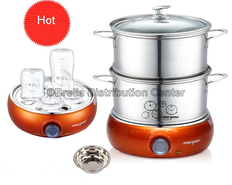 Stainless Steel Electric Vegetable Steamer ~ Meyou full stainless steel multifunctional electric food