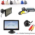 Dual Core Car Video Parking Sensor Step up alarm system CCD Rear View Camera HD Auto
