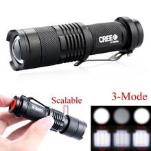 Buy CREE Q5 2000Lumens Cree led Torch Zoomable Tactical Waterproof LED Flashlight Torch Light 3 Modes AA/14500 for $2.21 in AliExpress store